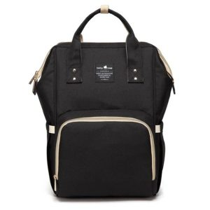 Black Nappy Bag Backpack