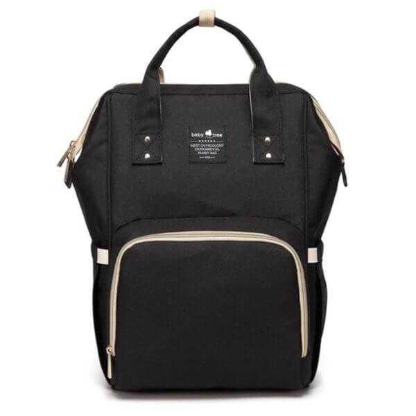 Black Nappy Bag Backpack
