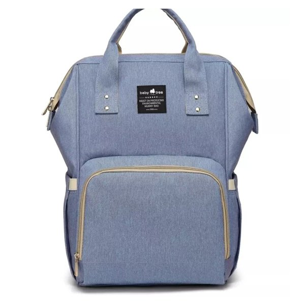 Blue Nappy Bag Backpack