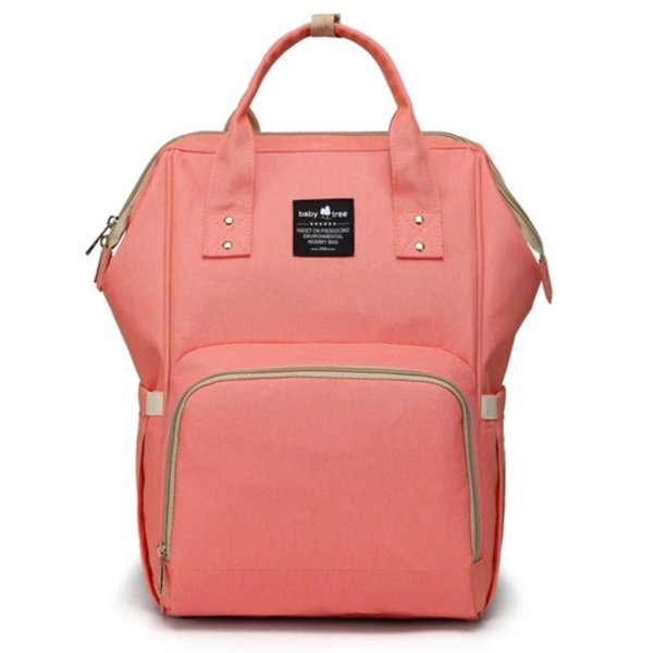 Nappy Bag Backpack Coral