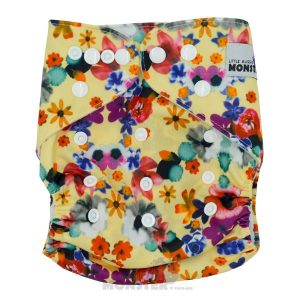 Pretty Flowers Modern Cloth Nappy Front