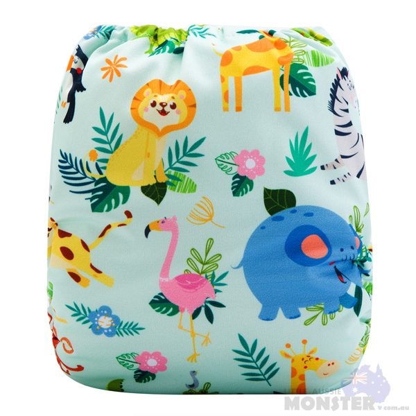 African Utopia Modern Cloth Nappy Back