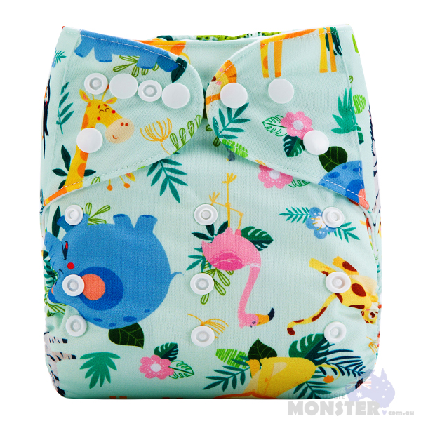 African Utopia Modern Cloth Nappy Front