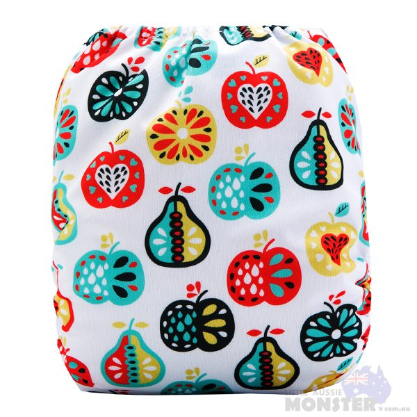 Apples & Pears Modern Cloth Nappy Back