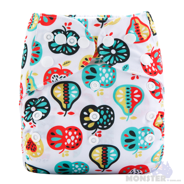 Apples & Pears Modern Cloth Nappy Front