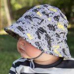 Boys baby bucket hat 'digger' print - 50cm - 1-2 years - M
