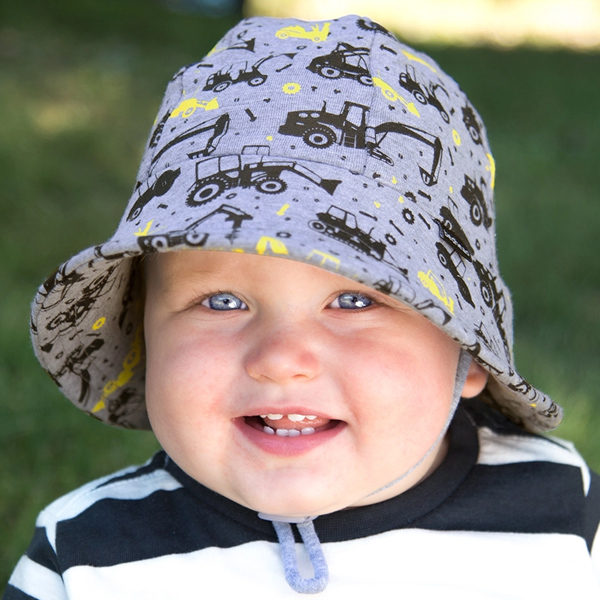 Boys baby bucket hat 'digger' print - 50cm - 1-2 years - M