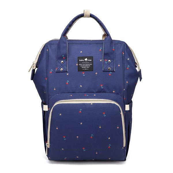 Blue Flowers Nappy Bag Backpack