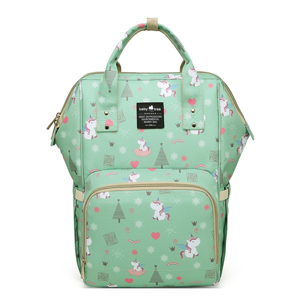 Green Unicorns Nappy Bag Backpack