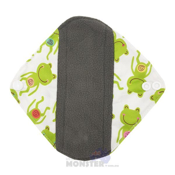 Frogs Light Reusable Sanitary Pad Front