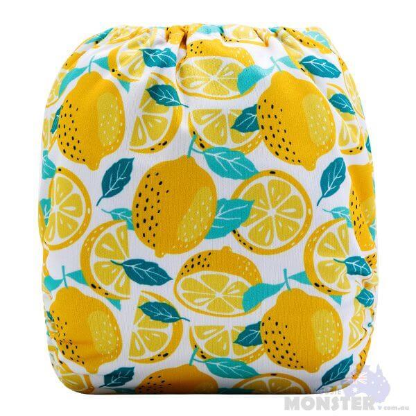 Lemon Modern Cloth Nappy Back