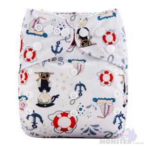 Sailor Modern Cloth Nappy Front