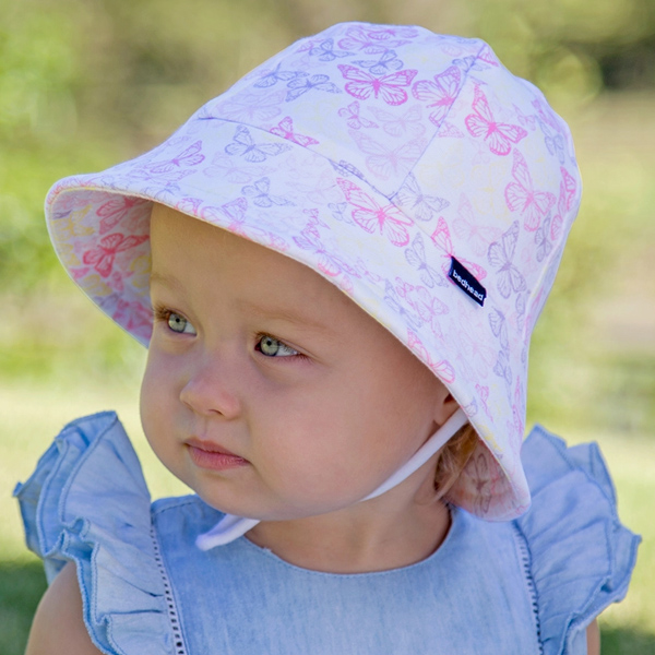 Girls Baby Bucket Hat 'Butterfly' Print - 50cm- 1-2 years - M