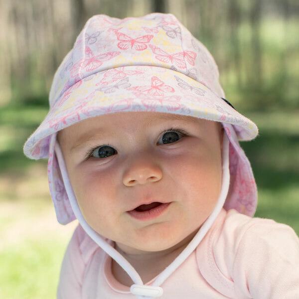 Girls baby legionnaire Hat Butterfly - 42cm - 3-6 months - XS