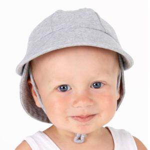 Baby Legionnaire Hat Grey Marle - 37cm - 0-3 months - XXS