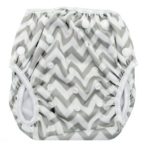 Grey Chevron Swim Nappy