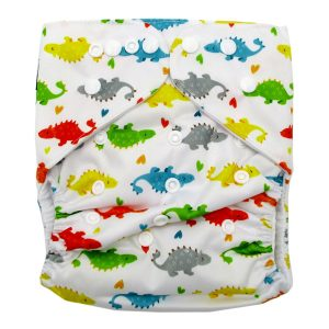 Junior XL cloth nappy Colorful Dinosaurs