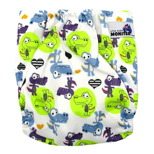 Cool Cocodile Large Junior Modern Cloth Nappy XL Back