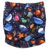 Deep Sea Double Gusset Modern Cloth Nappy Back