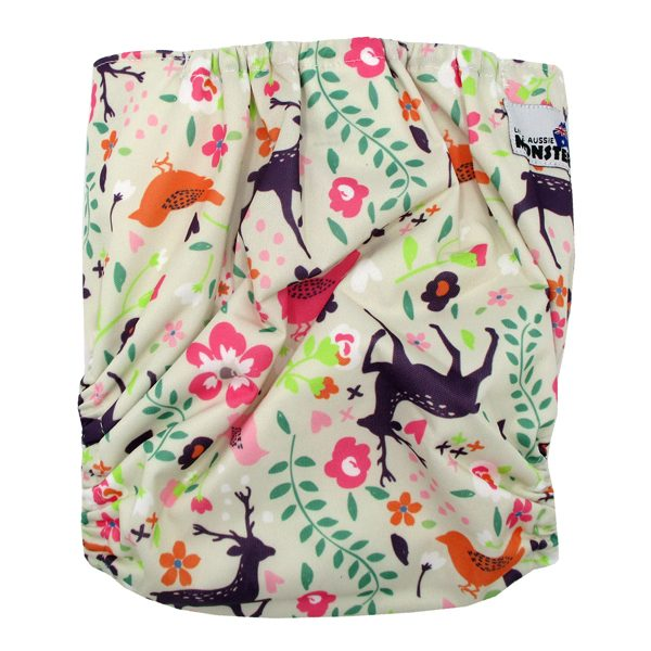 Purple Deer Large Junior Modern Cloth Nappy XL Back