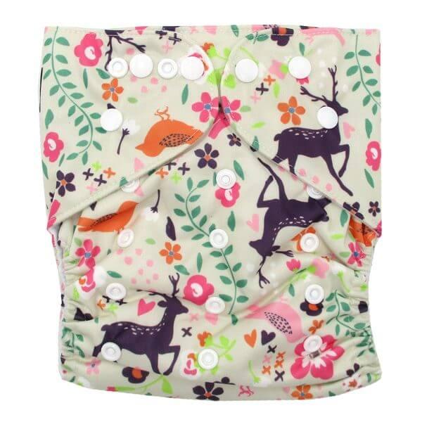 Junior XL cloth nappy Purple Deer