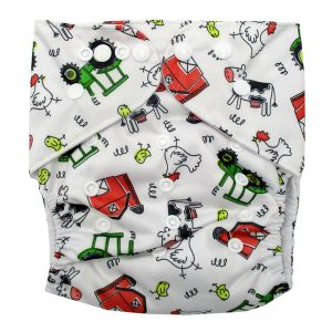 Junior XL cloth nappy Farm tractors & Cows