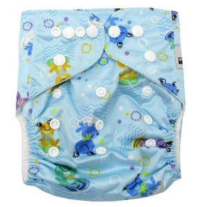 Blue Frogs Modern Cloth Nappy Back