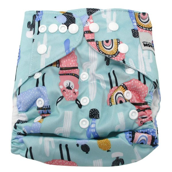 Llamas Modern Cloth Nappy