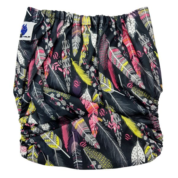 Black Feathers Cloth Nappy