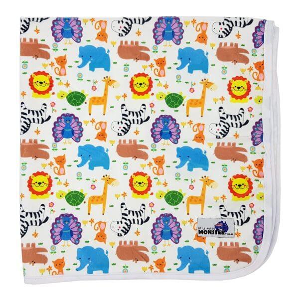 change mat cute wild animals