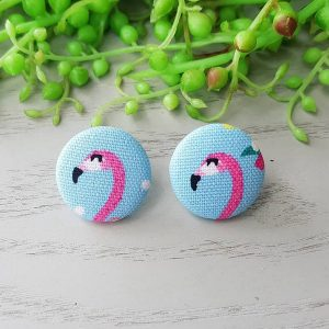 Flamingo Fabric Earrings