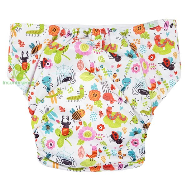 insects print adult nappy