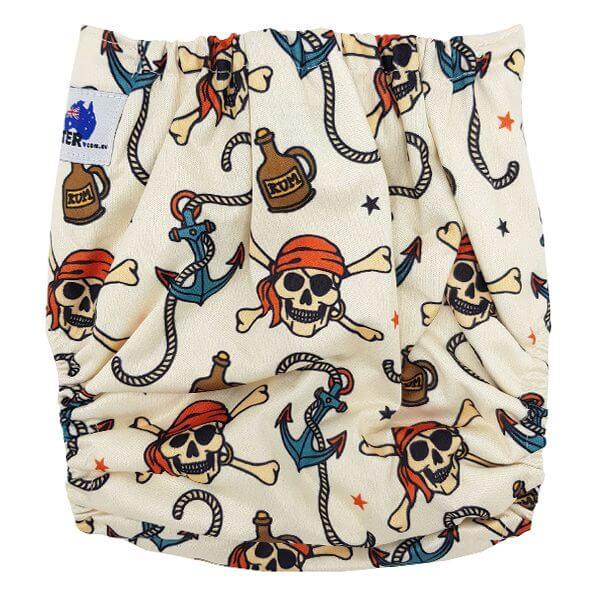 Light Skulls Cloth Diaper Back