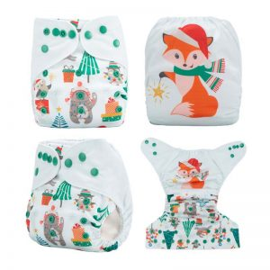 Xmas Cloth Nappy Fox