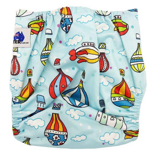 Hot Air Balloons Cloth Nappy Back