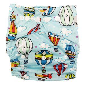 Hot Air Balloons Cloth Nappy Front