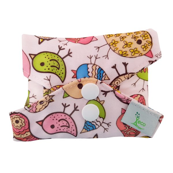 Retro Birds Heavy Incontinence Pad Folded