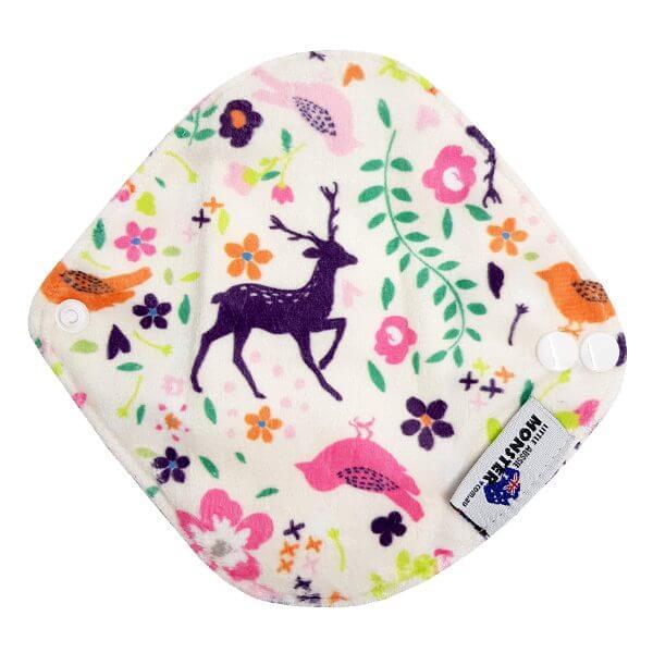 Reusable Sanitary Pad Light Minky Deer Back