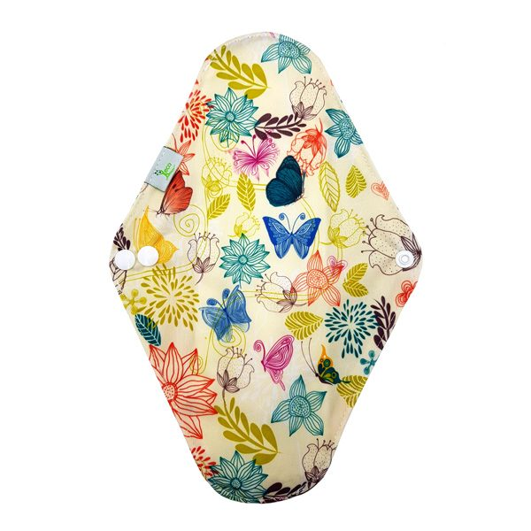 Yellow Flowers Regular Incontinence Pad Back