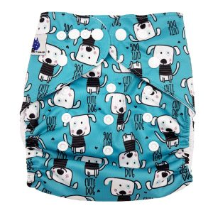 Blue Dogs Cloth Diaper Front