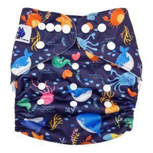 Deep Sea Cloth Nappy Front