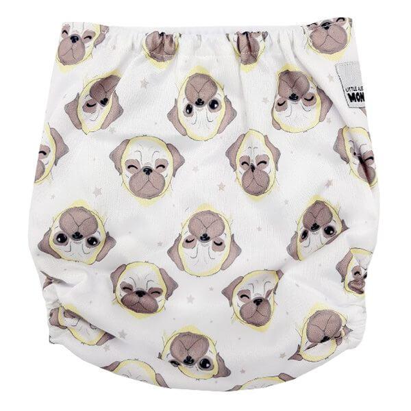 Pug Dogs Cloth Nappy Back