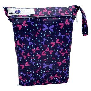 Purple Dragonflies Wet Bag Front