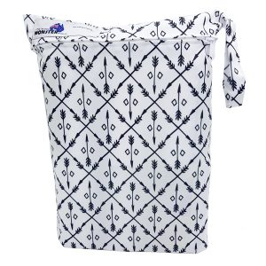 Black and White Arrows Wet Bag Front