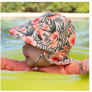 Girls Beach Legionnaire Hat Hibiscus Swim Baby Toddler
