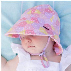 Girls Legionnaire Hat Rose Front