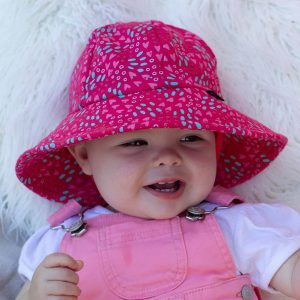Girls Toddler Bucket Hat Amore Front
