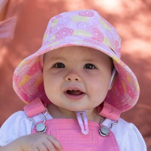 Girls Toddler Bucket Hat RoseFront