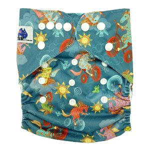 Horsing Around Cloth Nappy Front