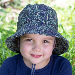 Kids Bucket Hat Palms Front